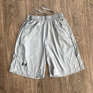 Men's Under Armour Silver Athletic Shorts